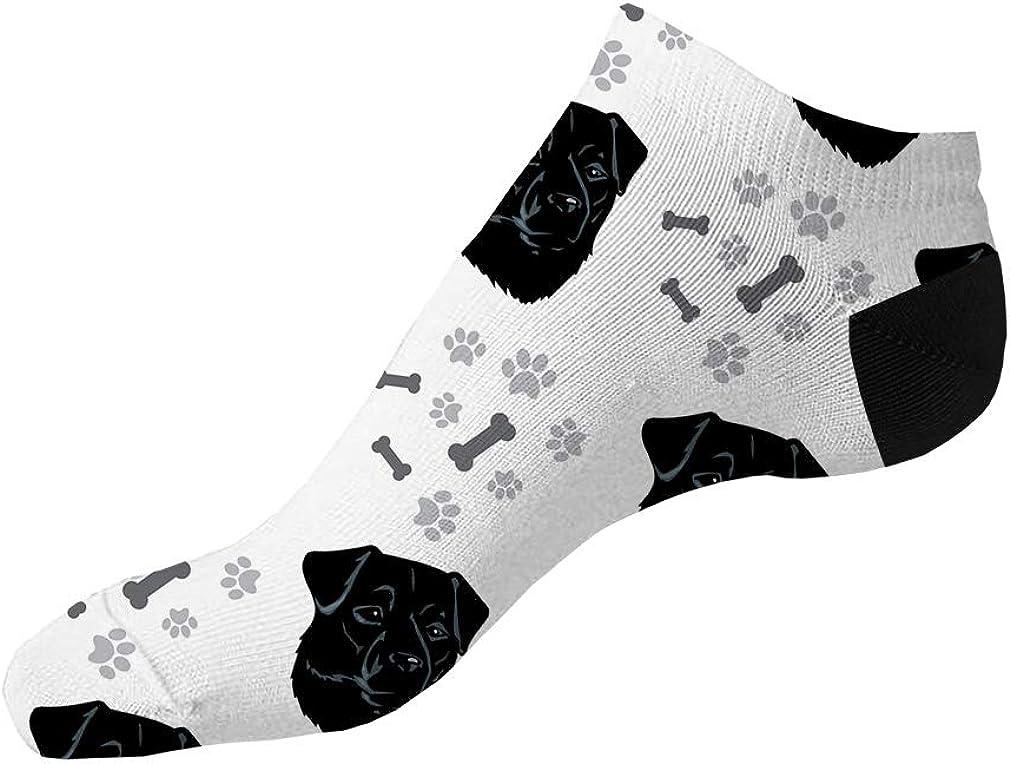 Patterdale Terrier Dog Breed Pattern #2 Men-Women Adult Ankle Socks