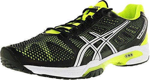 2 Volleyball Shoe (ASICS Men's Gel-Solution Speed 2 Tennis Shoe,Onyx/Flash Yellow/Silver,12.5 D(M) US)
