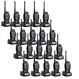 20 Pack Baofeng BF-888S 5W 1500mAh 16 Channel Handheld Walkie Talkie Black