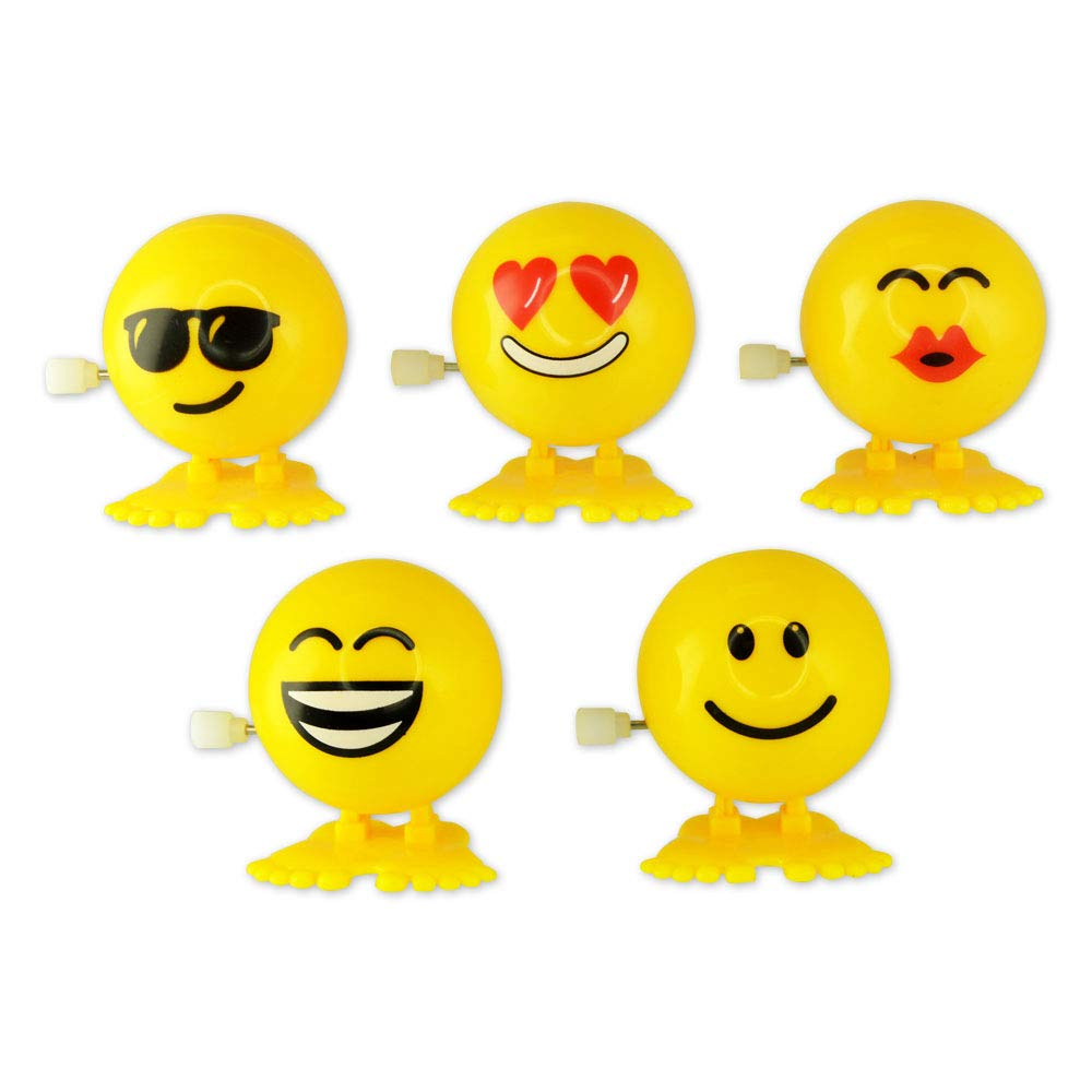Kipp Brothers Mini Plastic Smile Wind-Up Hopping Toys - Pack of 12