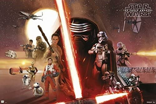 Star Wars The Force Awakens Movie Poster Horizontal 24x36 Poster