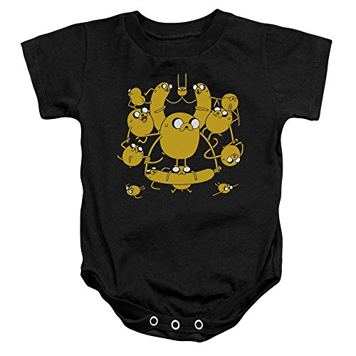 Adventure Time - Toddler Jakes Onesie, Size: 6 Months, Color: Black -