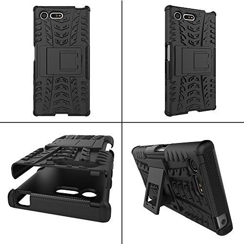 OFU®Para Sony Xperia X Compact (4.6) Smartphone, Híbrido caja de la armadura para el teléfono Sony Xperia X Compact (4.6) resistente a prueba de golpes contra la lucha de viaje accesorios esenciales azul