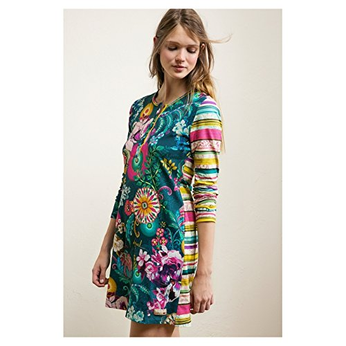 Desigual Camisón | Paisley Bloom Stripes – L