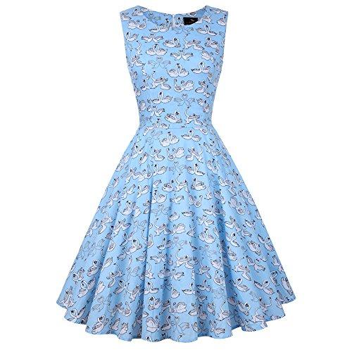 blue 60s dress - 7