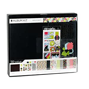 American Crafts 12-Inch by 12-Inch Album Kit, Travel