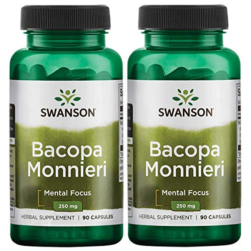 Swanson Bacopa Monnieri Extract Bacognize 250 Milligrams 90 Capsules 2 Pack