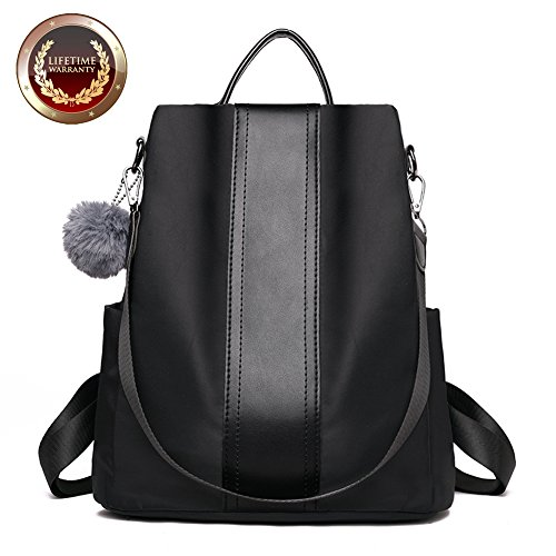 Fashion Backpack Purse for Women Nylon Backpacks Anti Theft Ladies Casual Daypack Stylish Shoulder Bag