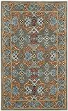 Cheap Safavieh HG741W-3 Heritage Collection Premium Wool Area Rug, 3′ x 5′ , Sage/Blue