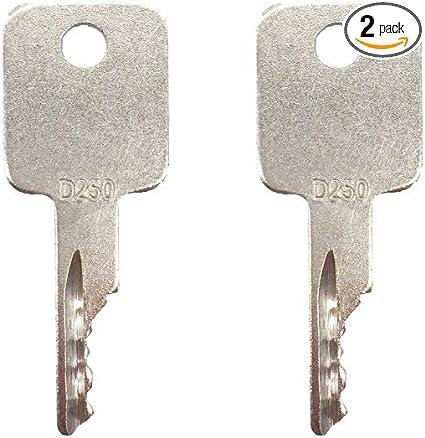 Case Skid Steer Bobcat /& Case D250 Excavator Key Set of 5