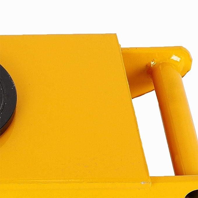 Rodillo para patines de Dolly de 12T, resistente, con tapa de rotación de 360 grados, 8 rodillos de poliuretano, para distribución de carga y carritos: ...