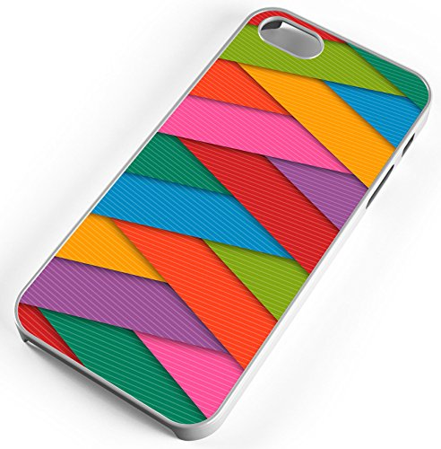- iPhone 8 Plus 8+ Case Abstract Background Colorful Strips Stripes Customizable TYD Designs in White Plastic
