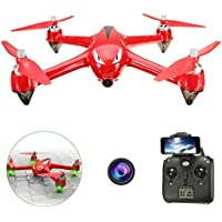 LUCKSTAR RC Quadcopter - Mini 4-axis Aircraft Unmanned Aerial Vehicles GPS Wifi Remote Control Drone with 1080P HD 5G Cordless Camera (Red)