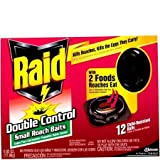 J Wax 15744 12C Small Raid Double Control Roach Baits - Pack of 6