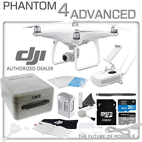 DJI Phantom 4 Advanced Quadcopter Drone Bundle (DJI CP.PT.000689) Remote Controller with Built in Monitor
