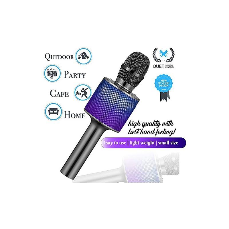 Karaoke Microphone Wireless, Sanovo Blue