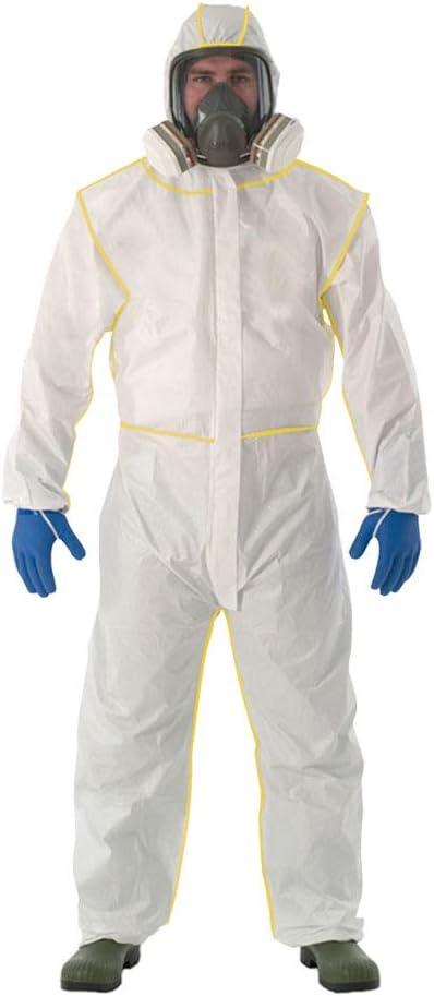Heatile Traje de protección química Tela Super Gruesa Piel Suave Adecuado para protección contra Incendios, petróleo, química, Militar, metalurgia y Otras Industrias (Sin máscara de Gas)