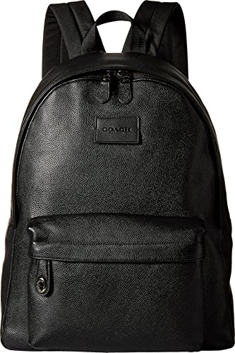 COACH Men's Refined Pebbled Campus Backpack QB/Black Backpack
