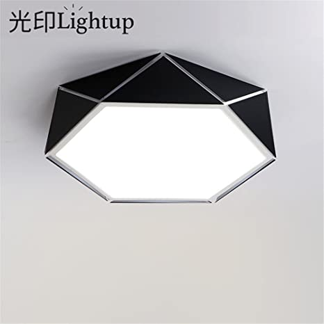 Ceiling Lights Ceiling Lights & Fans Personality Polygon Geometric Led Ceiling Light 24w Dimming Bedroom Living Room Foyer Room Ceiling Lamp