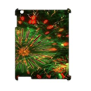 Brilliant fireworks Design Unique Customized 3D Hard Case Cover for iPad 2,3,4, Brilliant fireworks iPad 2,3,4 3D Cover Case