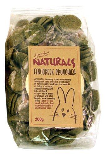 Boredom Breakers Pet Treats - Boredom Breaker Naturals Fenugreek Crunchies For Rabbits, Guinea Pigs And Small Animals (200G) [18945]