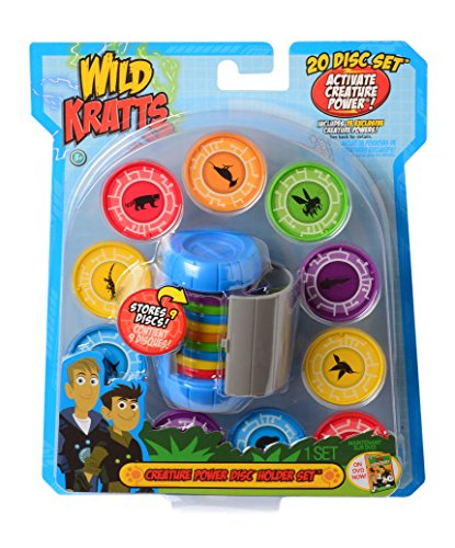 (Wild Kratts Toys Creature Power Disc Holder Set with 20 Discs - Martin)