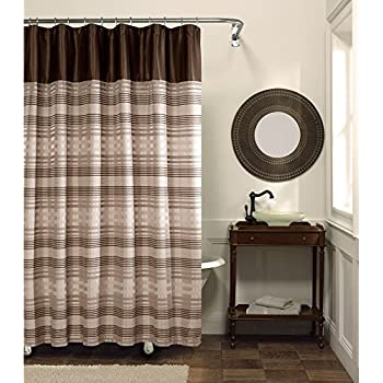 Maytex Blake Chenille Fabric Shower Curtain