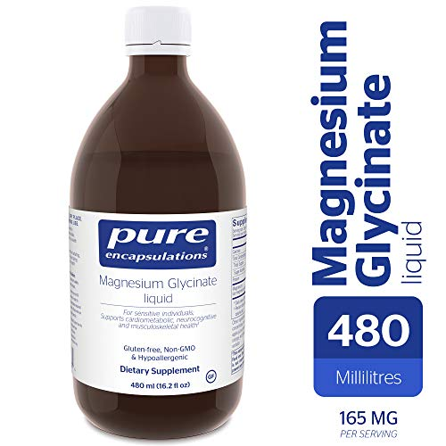 Pure Encapsulations - Magnesium Glycinate Liquid - Supports Musculoskeletal, Cardiometabolic and Emotional Health - 480 ml (16.2 fl oz)