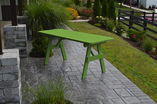 A & L Furniture Yellow Pine Traditional Picnic Table (No Hole), 8', Lime by A&L Furniture Co. (Image #2)