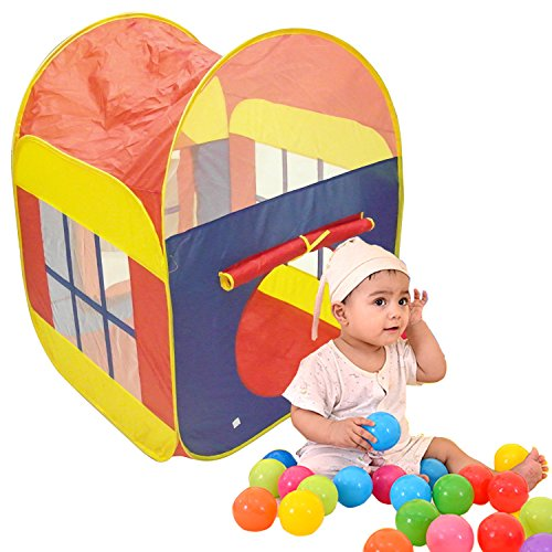 TrendBox 200 Ocean Balls + Interior Outdoor Collapsible Ocean Ball Tent Play House Foldable 2-Doors For Baby Children Kids (Ship From USA) by TrendBox