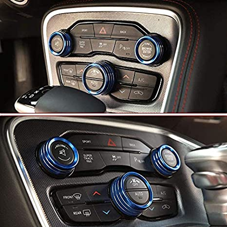 ABS Carbon Fiber for Dodge Challenger ST SRT Charger Scat Pack Durango 2015-2019 Car Interior Accessories Gear Shift Knob Cover Trim 1PCS