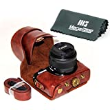 """MegaGear """"Ever Ready"""" Camera Case, Bag for Canon EOS M10 Mirrorless Digital Camera with 15-45mm Lens (Dark Brown)"""