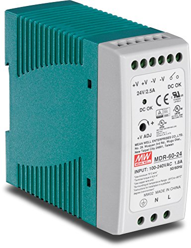 TRENDnet TI-M6024 60 W Single Output Industrial DIN-Rail Power Supply, 24 V, 2.5 A, (-20 to 70 Degree C, -4 to 158 Degree F)