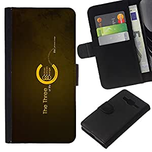 LECELL--Cuero de la tarjeta la carpeta del tirón Smartphone Slots Protección Holder For Samsung Galaxy Core Prime -- Los tres de la Vida --