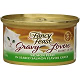 Fancy Feast Wet Cat Food, Gravy Lovers, Salmon Feast in Seared Salmon Flavor Gravy, 3-Ounce Can, Pack of 24