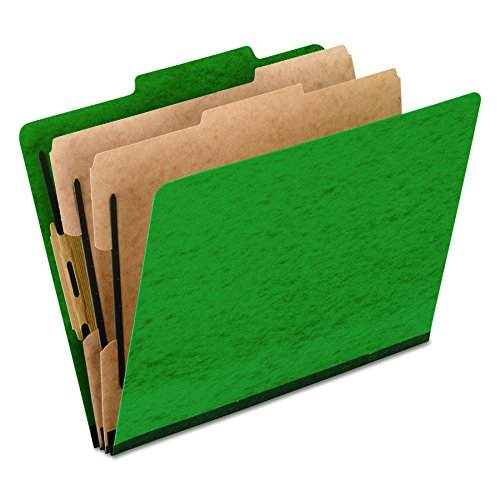 Pendaflex Moisture-Resistant Color Classification Folders, Letter Size, 2 Dividers, Green, 2/5 Cut, 10/BX (1257GR)
