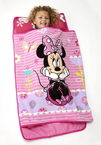 Disney Minnie Mouse Toddler Rolled Nap Mat, Sweet as Minnie
