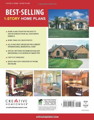 Best selling 1 story home plans ch media books non for Top selling house plans