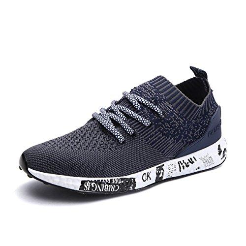 Gracosy Sneaker, Herren Damen Laufschuhe Turnschuhe Freizeitschuhe Sport Fitness Outdoor Schuhe Leicht Bequem (Hersteller-Größentabelle IM Bild Beachten) Schwarz Grau Blau Blau