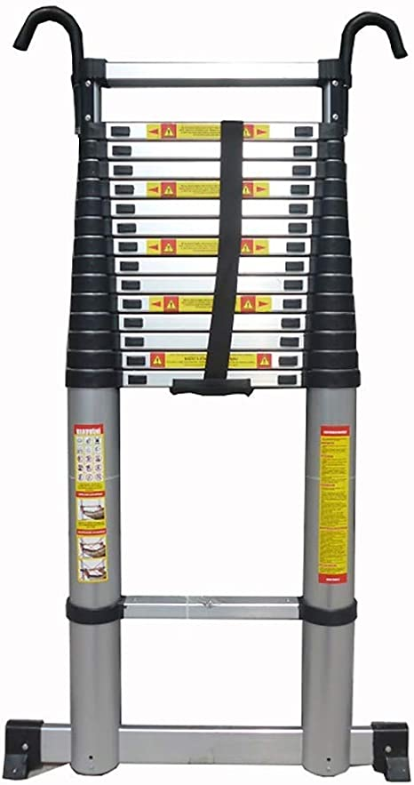 Escalera de mano Escalera alta telescópica de 7 m / 23 pies con gancho Escalera de extensión extensible portátil de bricolaje de aluminio for usos múltiples for ascensores Buhardilla buhardilla: Amazon.es: Hogar