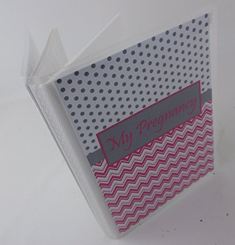 Pregnancy Photo Album . Hot Pink Polka Dot. 052GPht. Girl baby album