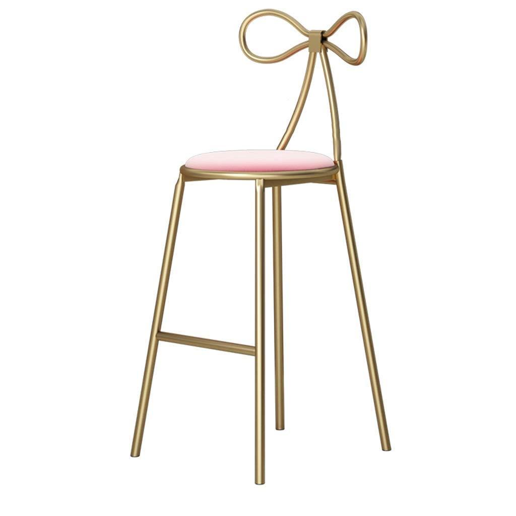 Multifunction 椅子 ネイルショップネットレッドチェアハイスツールシンプルクリエイティブバーレストランカジュアルティーショップチェア (色 : Pink mat, サイズ さいず : Height 75cm) B07L5D7473 Pink mat Height 75cm