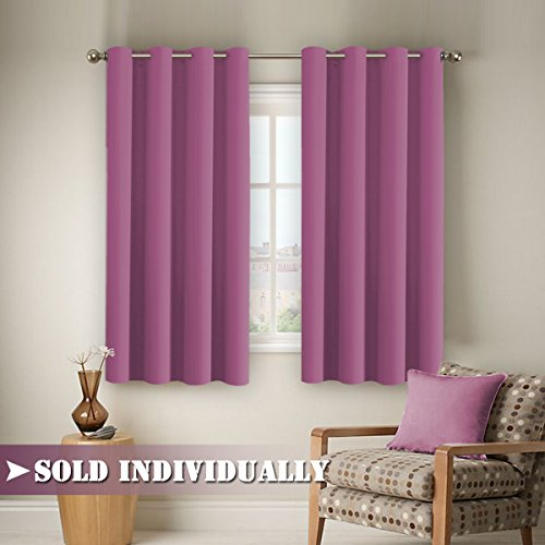 ... Blocking Grommet Top Multiple Sizes Microfiber Solid Color Blackout  Thermal Insulated Curtain/Drape One Panel Each Bag 63 By 52 Inch  Lavender  Rose