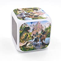 EGS New Dinosaur Tyrannosaurs Rex Digital Alarm Clock Desk Table Led Alarm Clock Creative Personalized Multifunctional Battery Alarm Clock Special Toy Gift for Unisex Kids Adults Dongguan dao jiao xinyi craft workshop