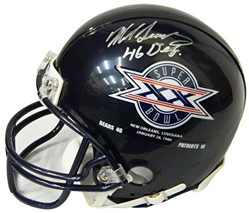 Champs Helmet Riddell Mini (Mike Singletary Signed Chicago Bears/SB XX Champs Logo Riddell Mini Helmet w/46 Defense)
