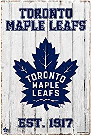 Toronto Maple Leafs 24x16 Established Faux Wood Sign