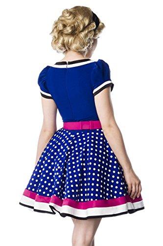 Blau Weiß Puffärmel Rosa 1950er Retrokleid Retro Tellerrock Gürtel Rockabilly 50er Kleid Jersey zqEx6Pq