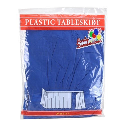 Dimensions Picnic Tables - Party Dimensions Single Count Plastic Table Skirt, 29 by 14-Feet, Blue
