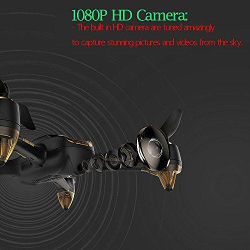 Glumes RC Quadcopter RTF With 1080P HD Camera GPS - Hubsan H501S X4 5.8G FPV Brushless|Good Gift for Adults + Kids |American Warehouse Shipment (Black) by Glumes (Image #5)
