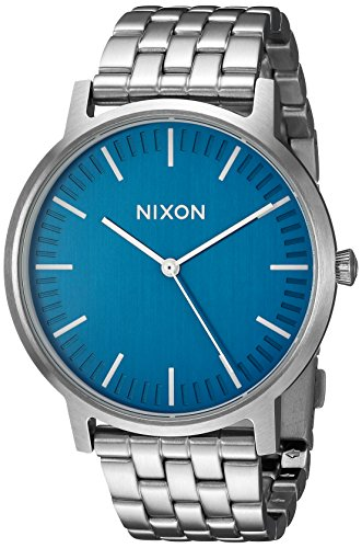 Nixon Men's 'Porter' Quartz Stainless Steel Watch, Color:Silver-Toned (Model: A1057307-00)